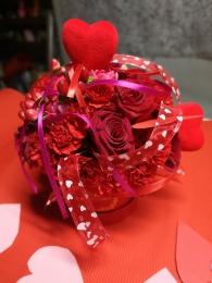 Box Kwiatowy czerwony